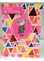 Paper Salad - 1st day of school girl