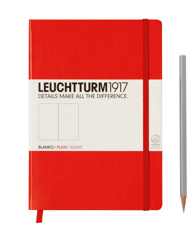 Leuchtturm A5 Plain Notebook - Red