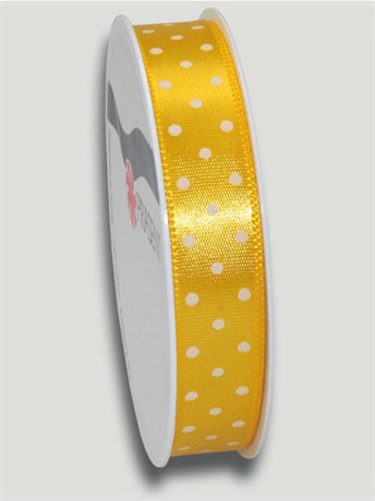 3m Mini Dots Ribbon 15mm - Yellow