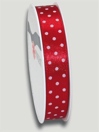 3m Mini Dots Ribbon 15mm - Red