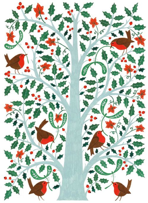 Museums and Galleries - Robins In Holly Tree x 8
