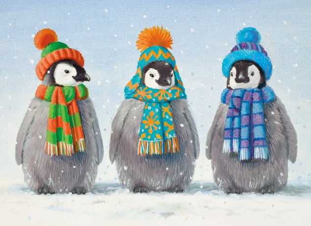 Museums and Galleries - Three Baby Penguins x 8