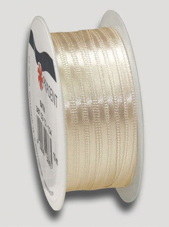 10m Satin Ribbon 3mm - Cream
