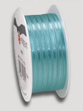10m Satin Ribbon 3mm - Turq