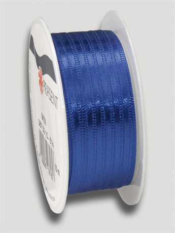 10m Satin Ribbon 3mm - Dark Blue