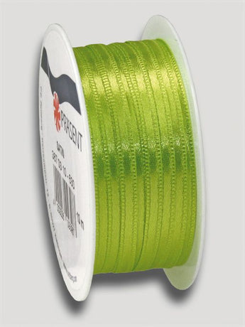 10m Satin Ribbon 3mm - Light Green