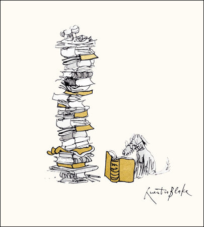 Quentin Blake - Stack of Books