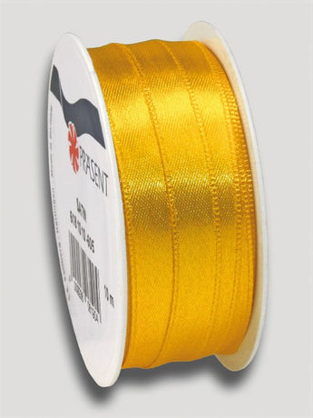 10m Satin Ribbon 10mm - Yellow