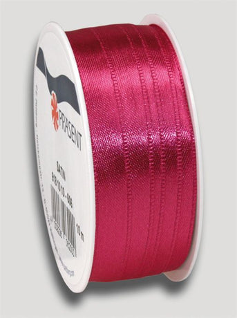 10m Satin Ribbon 10mm - Dark Pink
