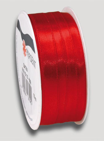 10m Satin Ribbon 10mm - Red