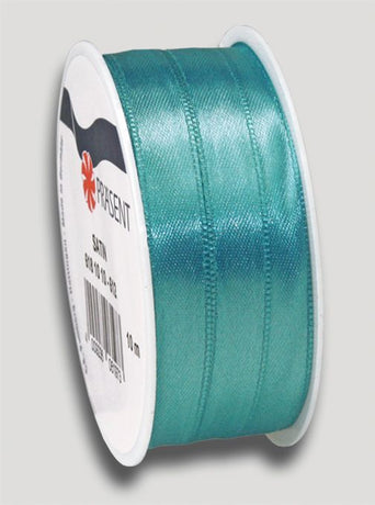 10m Satin Ribbon 10mm - Turq