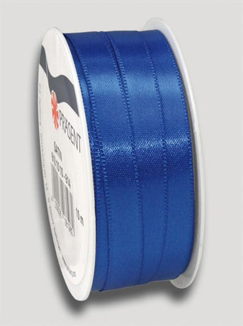 10m Satin Ribbon 10mm - Dark Blue
