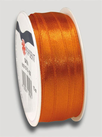 10m Satin Ribbon 10mm - Orange