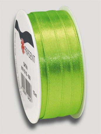 10m Satin Ribbon 10mm - Light Green