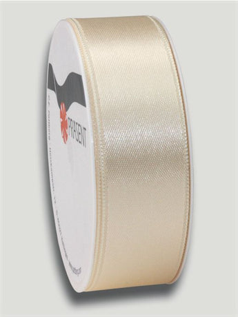 5m Satin Ribbon 25mm - Cream