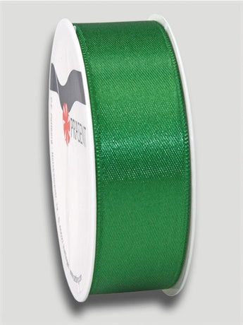 5m Satin Ribbon 25mm - Dark Green