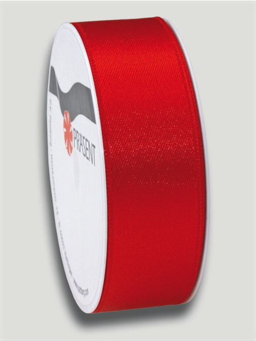 5m Satin Ribbon 25mm - Red