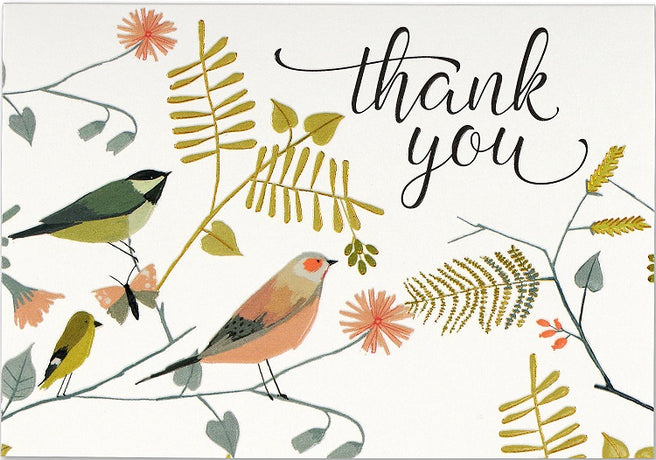 Peter Pauper - Songbirds Thank You x 14