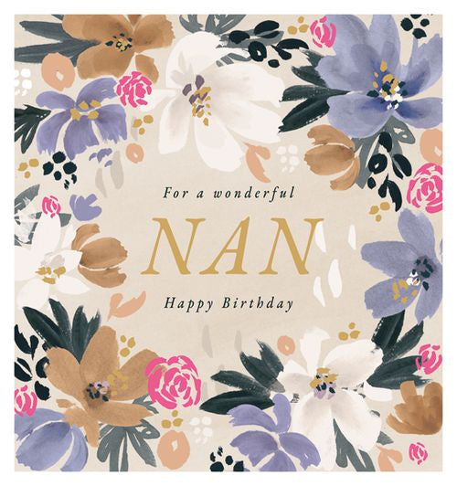 Art File - Wonderful Floral Nan