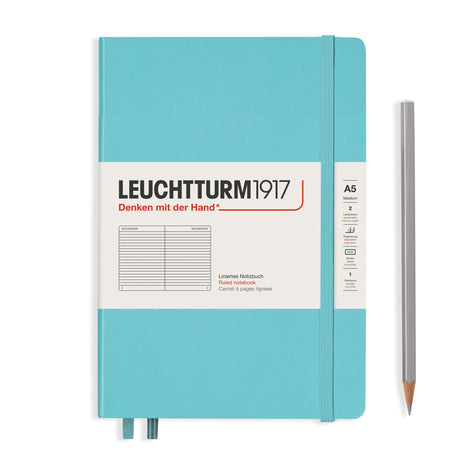Leuchtturm A5 Ruled Notebook - Aquamarine