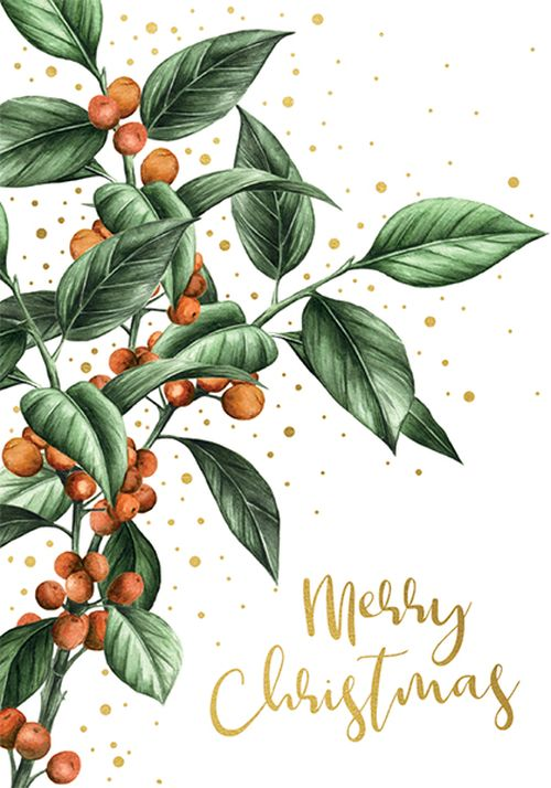 Art File - Merry Christmas Holly