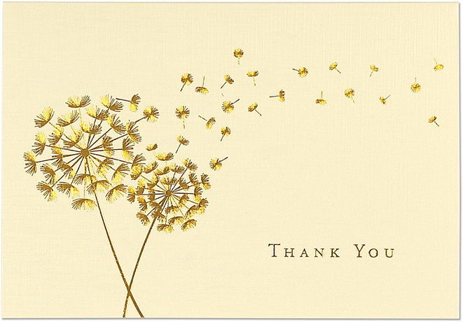 Peter Pauper - Dandelion Thank You Notes x 14