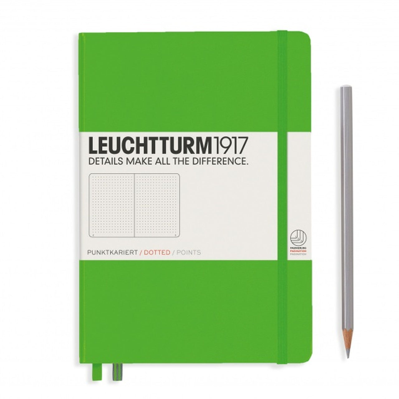 Leuchtturm A5 Dotted Notebook - Fresh Green