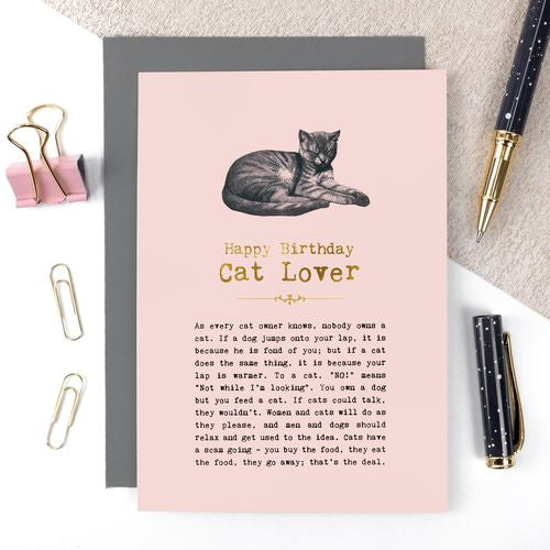 Vintage Words - Cat Lover