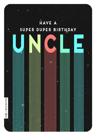 Art File - Super duper birthday uncle