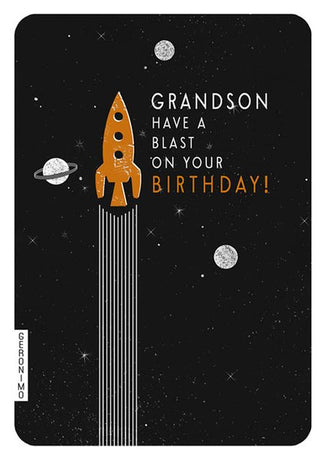 Art File - Grandson Birthday Rocket