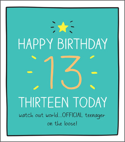 Happy Jackson - 13 Today - Offical Teenager