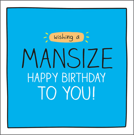 Happy Jackson - Mansize Birthday