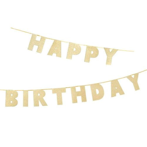 Talking Tables - Birthday Garland - Gold