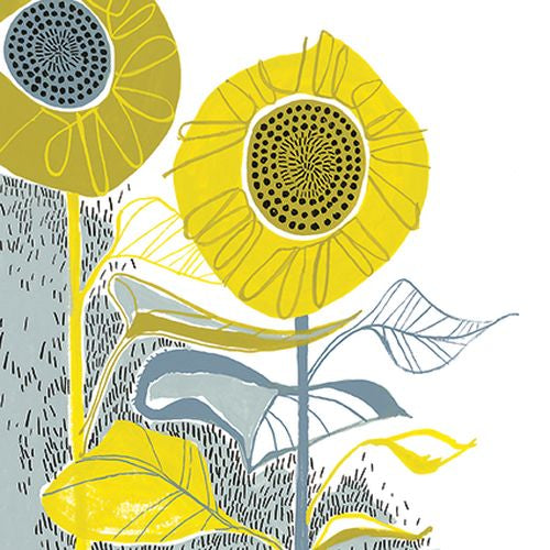 Hannah Pontin - Coverack sunflower on a rainy day