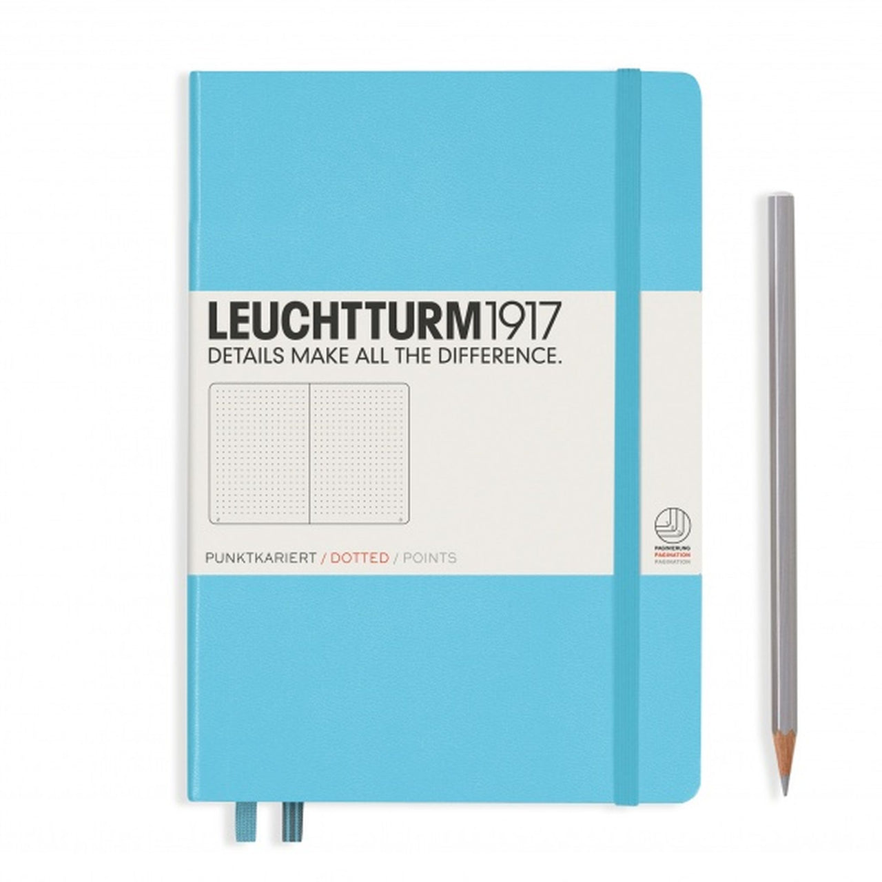 Leuchtturm A5 Dotted Notebook - Ice Blue