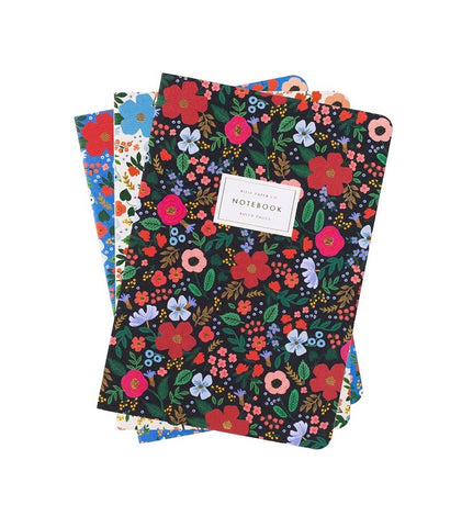 Rifle Paper Co - Wild Rose Notebooks x 3