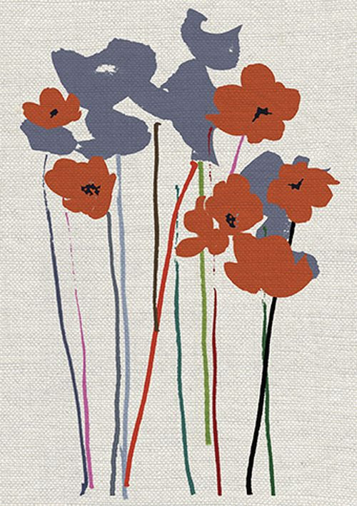 Jenny Frean - Printed Poppies