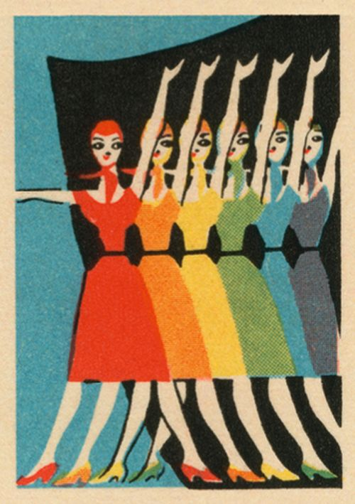 Vintage Matchbox - Performers in Rainbow Colours