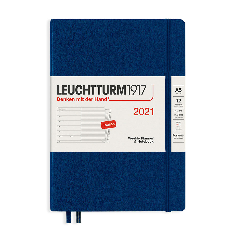 Leuchtturm - A5 Weekly Planner - Hardcover - Navy