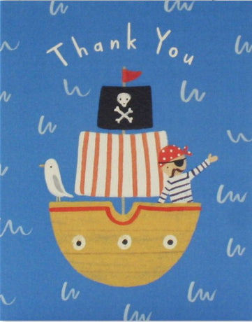 Pirate Ship Thank You x 5.