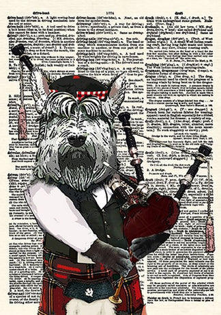 CollageOrama - Hamish the Bagpiping Scottish Terrier