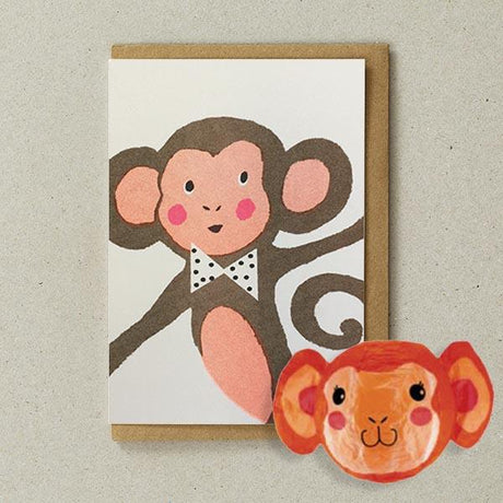 Petra Boase - Monkey Paper Balloon Card