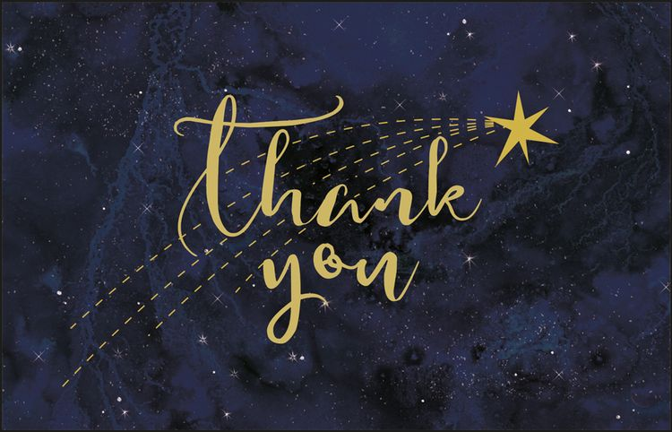 Art File - Constellations Thank You Notes