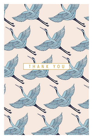 Art File - Blue Crane Thank You Notes x 10