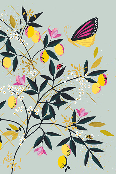 Sara Miller London - Butterfly and Lemon x 10