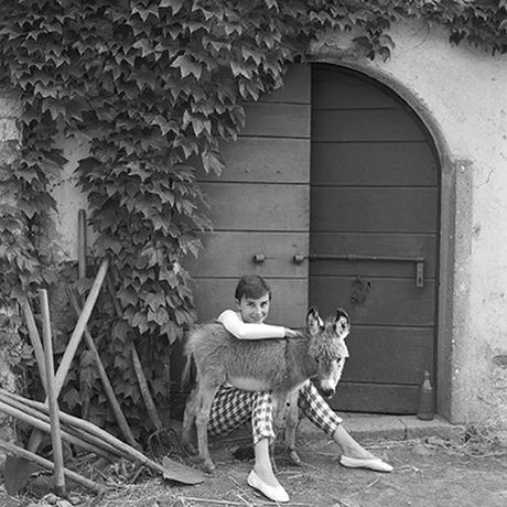Norman Parkinson - Audrey Hepburn and Donkey, Rome, 1955