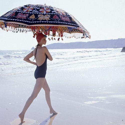 Norman Parkinson - Model with Parasol, 1971
