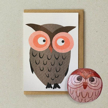 Petra Boase - Owl Paper Balloon Card