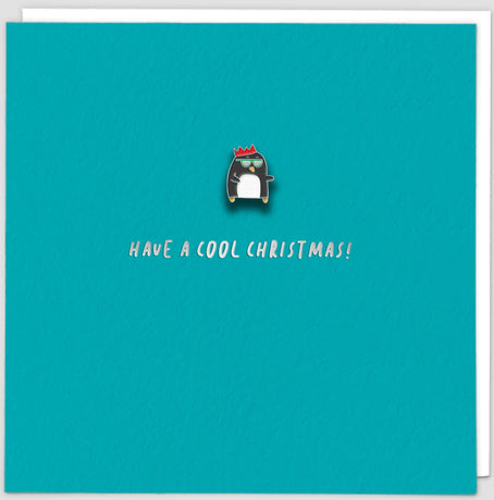 Redback - Cool Xmas Penguin Pin Card