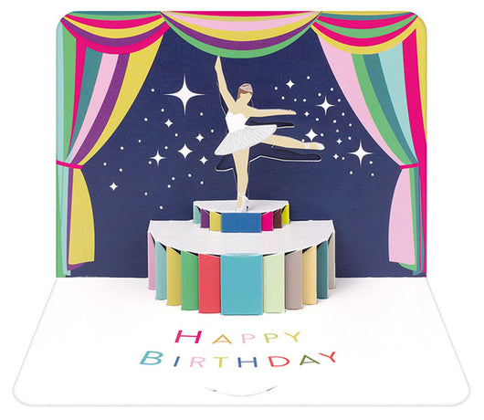 Art File - Birthday Ballerina Pop-Up Card